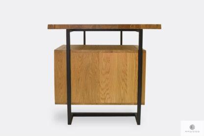 Industrialne biurko z drewna i metalu do gabinetu OLIMPIA