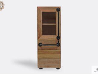 Industrialny słupek z drewna litego do salonu DENAR