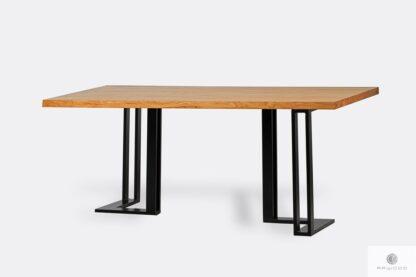 Industrialny stół z drewna i metalu SNAKE