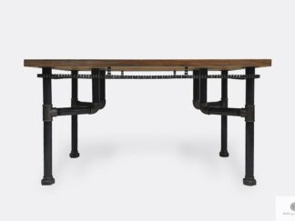 Industrialny stół z sosnowego drewna litego do salonu VENTUR