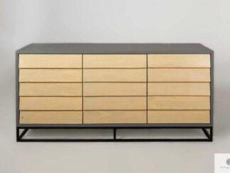 Komoda szafka pod telewizor z drewna sosnowego do salonu ADEO II