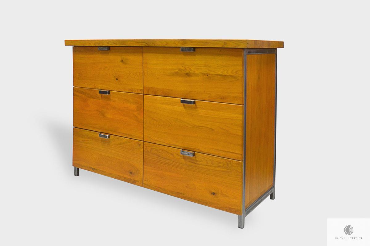 Komoda z drewna liteg z szufladami do sypialni HUGON