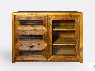 Komoda ze starego drewna litego do salonu jadalni AMBER