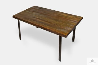 Ława z drewnianym blatem z drewna litego do salonu HEGEL
