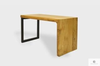 Ławka industrialna drewniana do przedpokoju HUGON