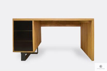Nowoczesne biurko dębowe do gabinetu #homeoffice MOCCA
