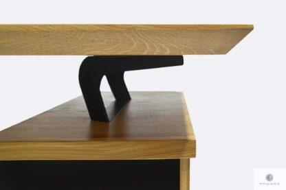 Nowoczesne biurko dębowe z podcietym blatem drewnianym VITA