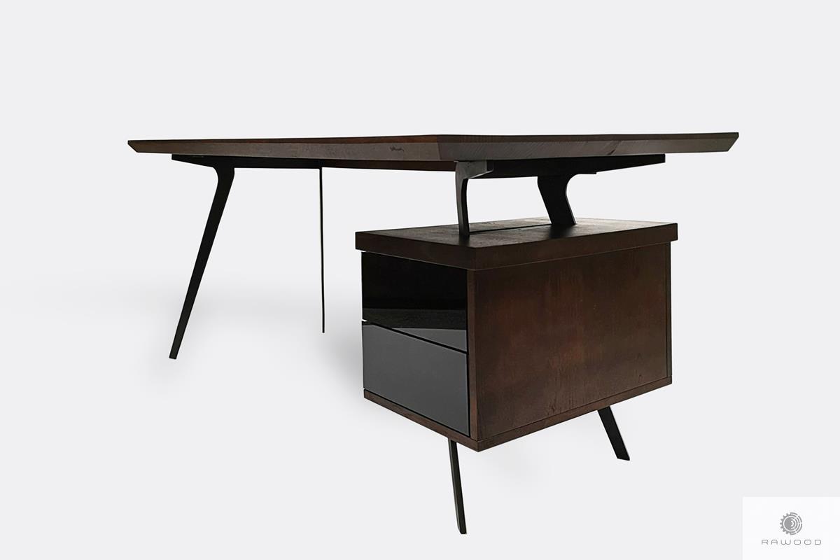 Nowoczesne biurko z litego drewna na wymiar do gabinetu biura VITA