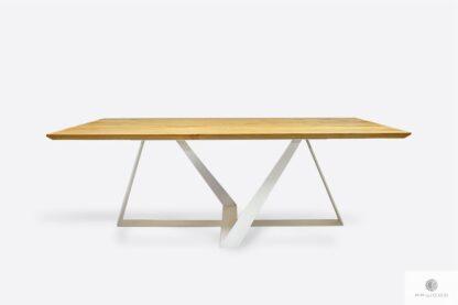 Nowoczesny stół dębowy do jadalni salonu BORNEO