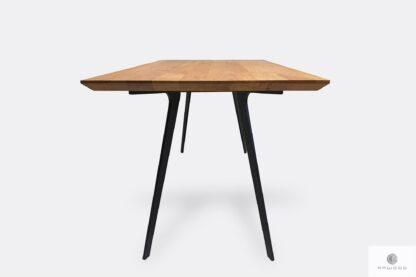 Nowoczesny stół dębowy z podciętym blatem do salonu VITA