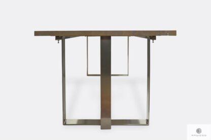 Nowoczesny stół z chromowanymi metalowymi nogami do salonu MOCCA