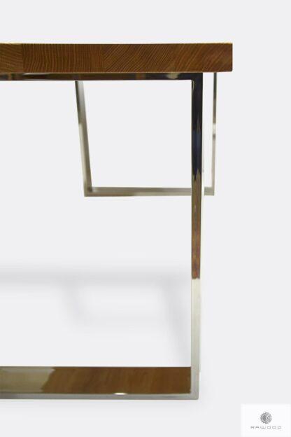 Nowoczesny stół z nogami chromowanymi metalowymi SILVERADO