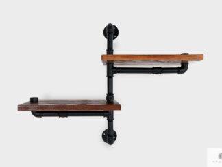 Półka z drewna litego do salonu pokoju DENAR