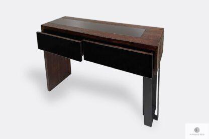 Pomocnik konsola drewniana nowoczesna do przedpokoju salonu MOCCA
