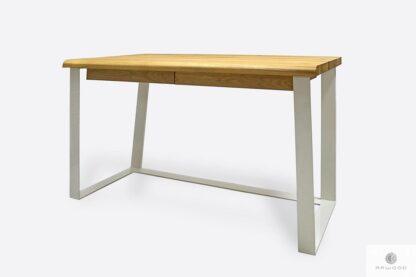 Skandynawskie biurko dębowe z szufladami od biura MERGE