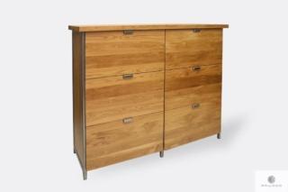 Solidna komoda drewniana z szufladami do sypialni HUGON