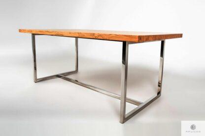 Stół dębowy konferencyjny z litego drewna z metalowymi nogami PASAT