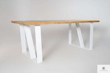 Stół dębowy skandynawski z drewna litego do jadalni ELEGANT