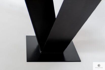 Stół dębowy z czarną metalową nogą malowaną proszkowo TOSCA