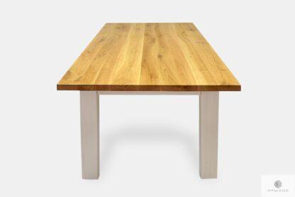 Stół drewniany na wymair do salonu jadalni BIANCO