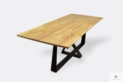 Stół industrialny dębowy na zamówienie do jadalni BORNEO