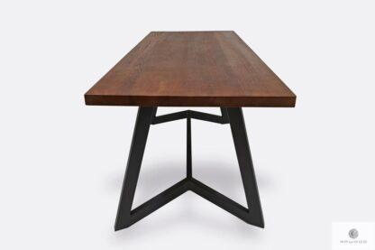 Stół industrialny z drewna litego i stali GERES