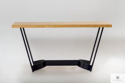 Stół jesionowy na metalowej nodze do jadalni FOSTER