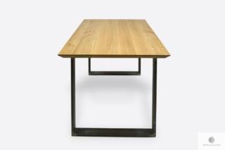 Stół nowoczesny dębowy loft na metalowych nogach BRITA