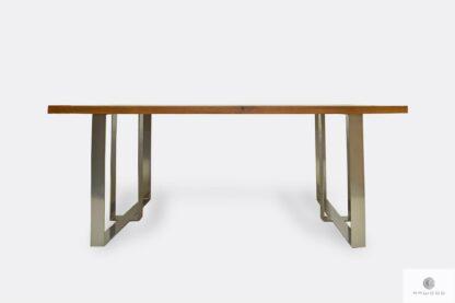Stół nowoczesny z dębowego drewna litego do jadalni salonu MOCCA