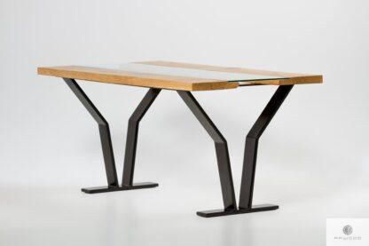 Stół z dębowego drewna stali szkła do jadalni salonu ARCO