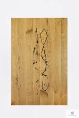 Stół z dębowym blatem z drewna litego do jadalni WESTA