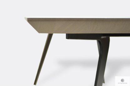 Stół z dębowym blatem z podcięcem szwajcarskie podcięcie VITA