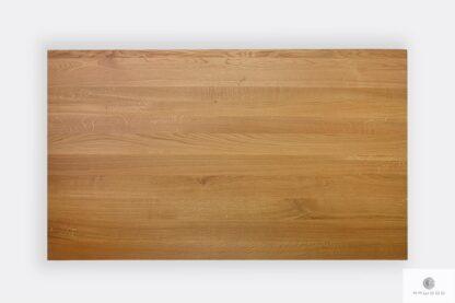 Stół z dębowym litym blatem z drewna litego dębowego naturalnego VITA