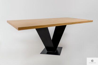Stół z drewna i metalu na wymiar do jadalni TOSCA