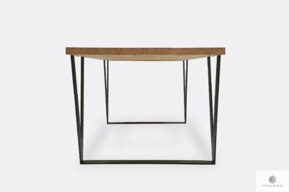 Stół z drewnianym blatem do salonu jadalni biura NERON