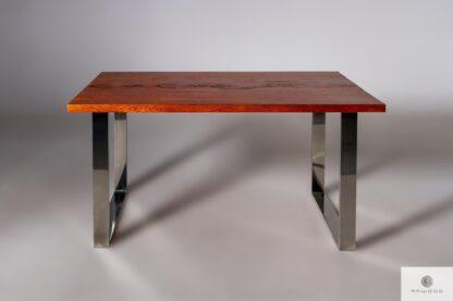 Stół z drewnianym blatem litym do jadalni SILVERADO