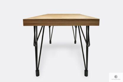Stół z jesionowego drewna litego do jadalni i salonu IFUX