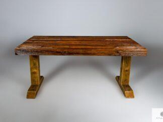 Stol ze starego drewna litego DREDD find us on https://www.facebook.com/RaWoodpl/