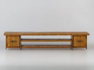 Szafka RTV drewniana rustykalna do salonu HEGEL