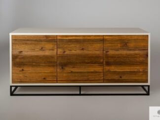 Szafka RTV komoda z litego drewna do salonu ADEO