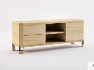 Szafka RTV z szufladami z drewna litego do salonu BRISTOL