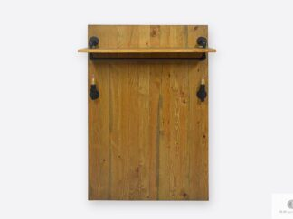 Wieszak na ubrania ścienny drewniany panel do przedpokoju DENAR