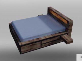 Zagłówek do łóżka z drewna dębowego do sypialni HUGON