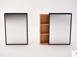 Lustro ścienne z półkami nowoczesne do przedpokoju MIRA