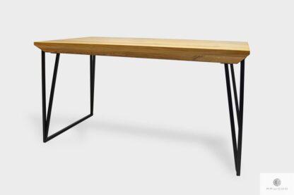 Nowoczesny stół dębowy z metalowymi nogami do jadalni ARES