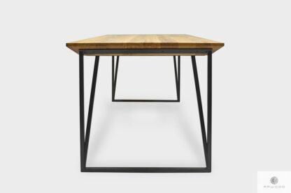 Stół dębowy na metalowych nogach na zamówienie do jadalni ARES