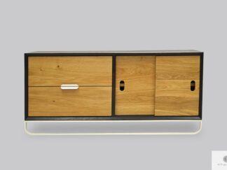 Szafka pod telewizor nowoczesna drewniana do salonu DENIS