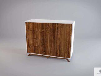 Nowoczesna drewniana komoda z frontami ze starego drewna litego BERGEN find us on https://www.facebook.com/RaWoodpl/