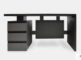 Biurko gabinetowe dębowe z szufladami open space do biura BOSS