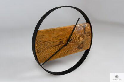Zegar industrialny z drewna litego metalu do domu